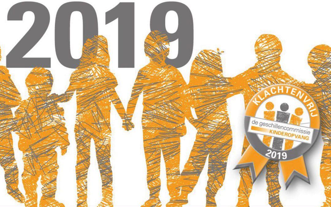 Peuterspeelzalen Stichting KindH Klachtenvrij in 2019